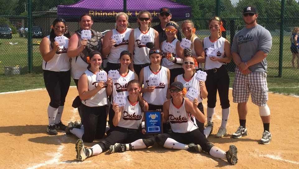 The Marlboro High School softball team poses after