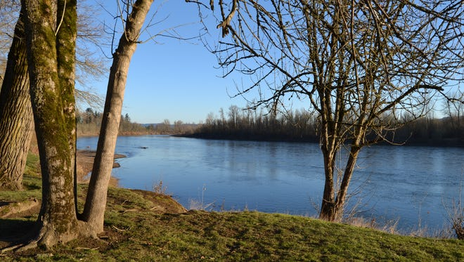 The Willamette river as seen from Riverview Park in Independence.