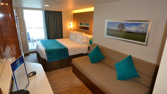The most common category of cabin on the Norwegian Getaway are its Balcony Staterooms, of which there are 960.