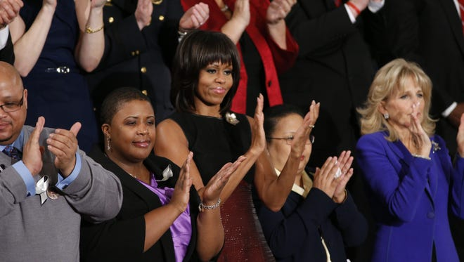 First lady Michelle Obama and guests at last year's State of the Union