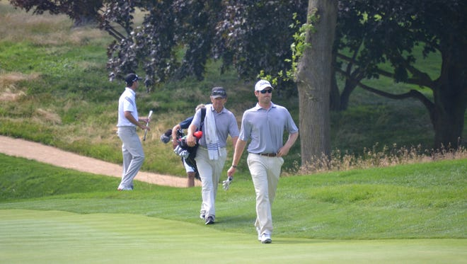 Max Buckley walks onto the sixth green at Metropolis Country Club recently during the Westchester Open.