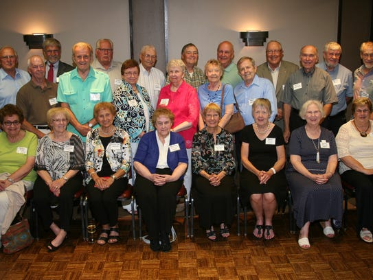Members of the P.J. Jacobs High School Class of 1957