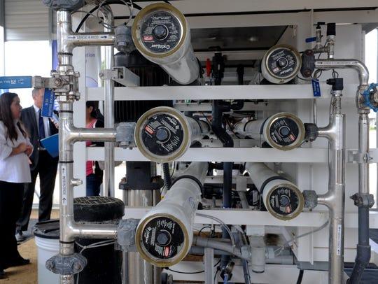 The reverse osmosis area of the Ventura WaterPure Potable