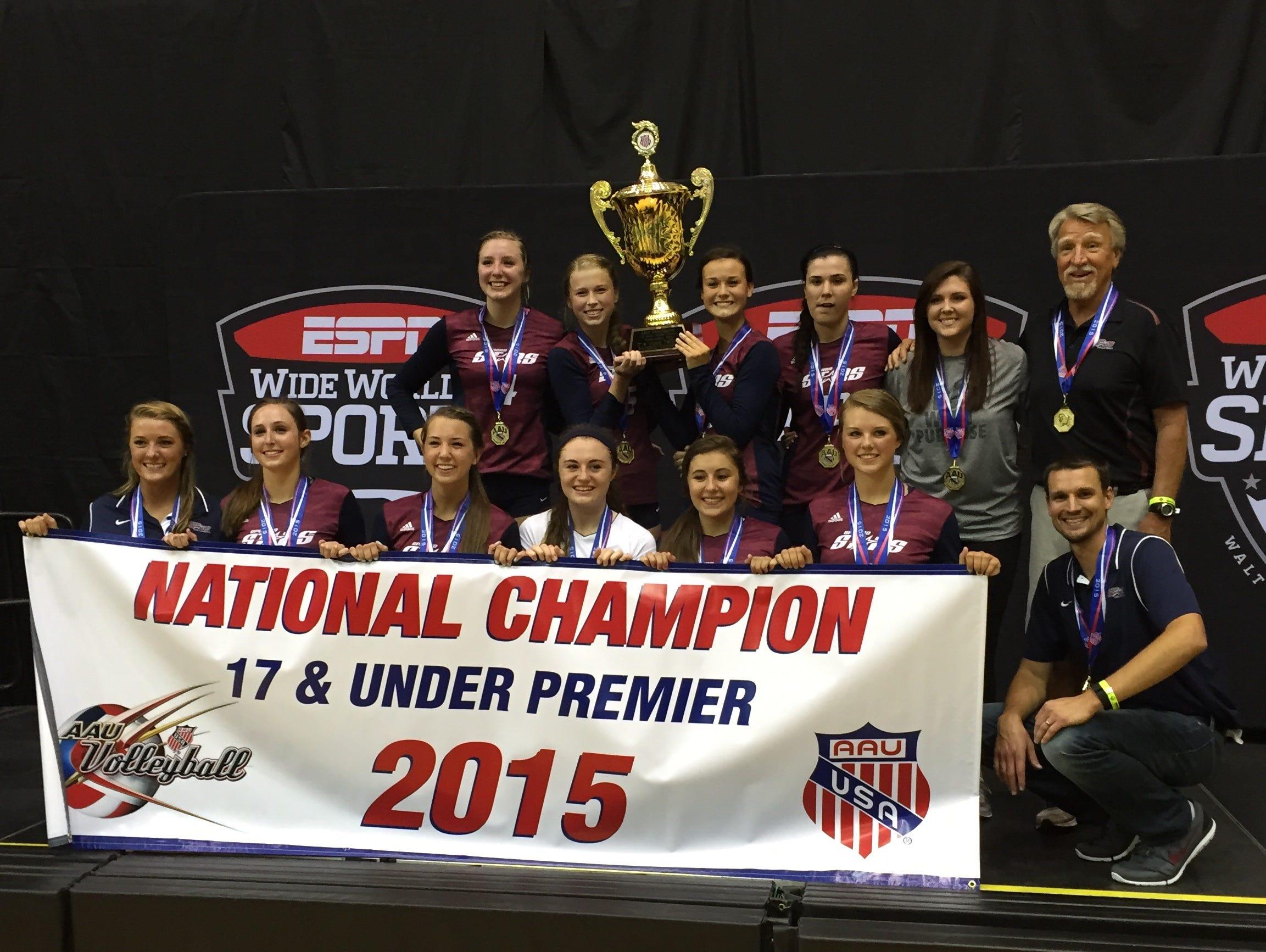 The Upward Stars Premier 17 and under volleyball team.
