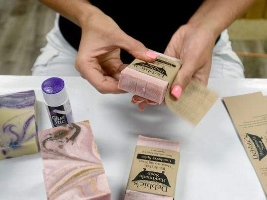Soaps being made at Debbie's Handmade Soap