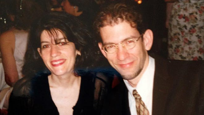 The author and her brother at a family event in 1996.