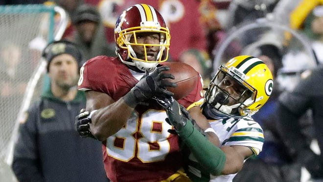 Cornerback LaDarius Gunter and the Packers' secondary struggled against the Redskins in Sunday's loss.