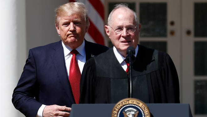 President Donald Trump and Supreme Court Justice Anthony Kennedy in 2017.