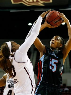 Louisiana Tech guard Brandi Wingate (25) leads the team in scoring.