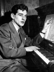 Leonard Bernstein at age 25 in 1943.