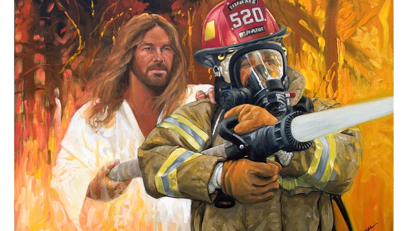 Gatlinburg Gallery Owner Honors Firemen With Painting