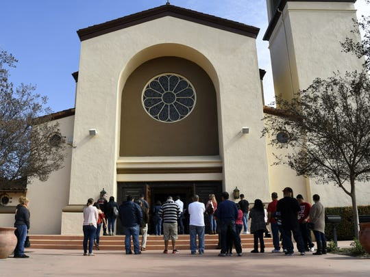 Christmas Mass service will be held Visalia's St. Mary's Catholic Church.