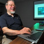 "Jim ""JR"" Staal of Palm Bay is president of MacMAD users group that includes more than 30 members. Staal joined the group in 1984, a year after it formed. He found reliability and more in Macintosh products and would never consider a PC."