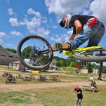 Howell's Patrick Costella took second in the Elite Division on Saturday in the Mt. Brighton Mountain Biking Downhill Town Series season finale.