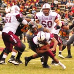 Grambling's Arkez Cooper makes a tackle during Saturday's game with Alabama A&M.