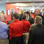 Will wishers line up for a chance to meet new Austin Peay football coach Will Healy.