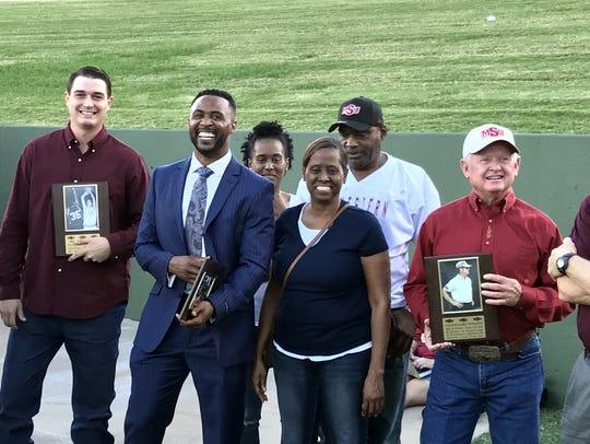 Daniel Polk was inducted in the MSU Athletics Hall