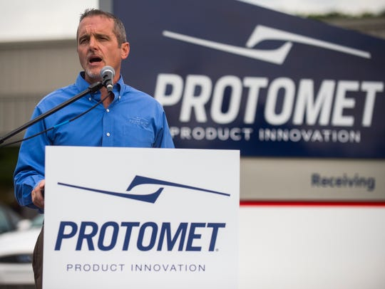 Jeff Bohanan, founder and CEO of Protomet, announces