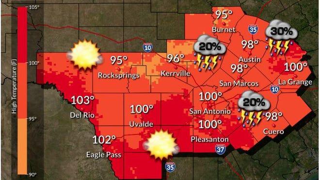 Forecast for Thursday, Aug. 27, 2020.