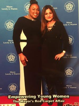 Sitima Fowler and Mayor Lovely Warren