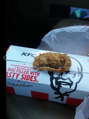 Devorise Dixon uploaded this photo to Facebook claiming it was a fried rat.