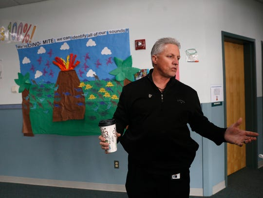 Aztec Municipal School District Superintendent Kirk Carpenter speaks during an interview on Feb. 16 at Lydia Rippey Elementary School in Aztec.