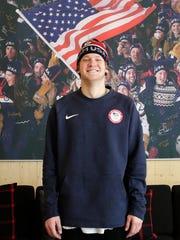 Silver medalist Kyle Mack in PyeongChang, South Korea.