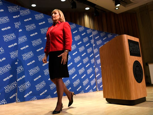 Lt. Gov. Kim Guadagno, the Republican candidate for