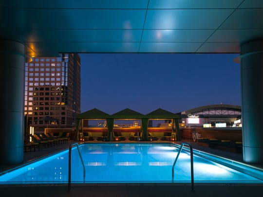 There are many VIP package options for New Year's Eve at the rooftop Lustre Bar at Hotel Palomar.