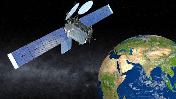 Artist rendering of the Thaicom 8 communications satellite