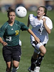 Jenna Hoecker, left, shown here as a senior in 2009,