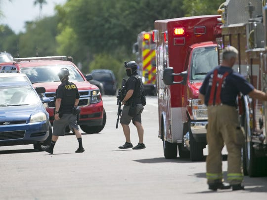 The scene at the Westchester Therapy Center where there was an active shooter situation northwest of the intersection of Rural and Guadalupe Roads in Tempe on Wednesday morning, July 27, 2016.