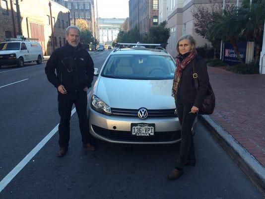 VW scandal protest trip