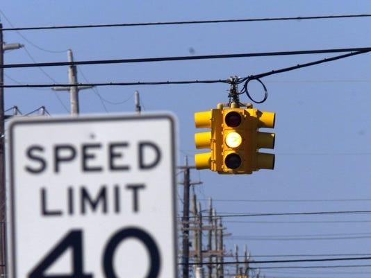 LBI blinking traffic lights