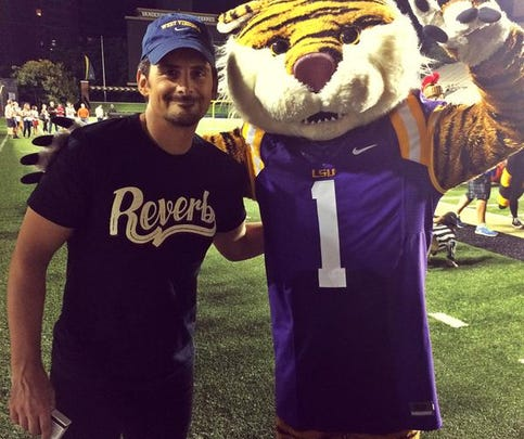 """Mike the Tiger joined Brad Paisley in his music video for """"Country Nation."""""""