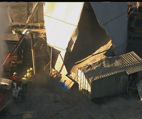 PHOTOS: 1 missing after silo collapse at Luck Stone Quarry