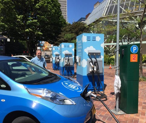 'Electric Avenue' quick-charging station for electric vehicles