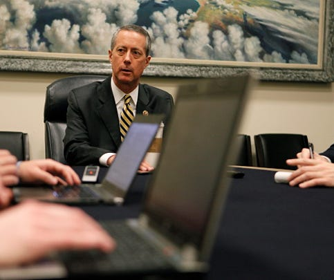 House Armed Services Chairman Mac Thornberry, R-Texas, speaks to reporters during a news conference in 2015.