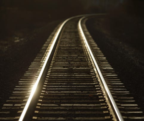 A Norfolk Southern Corp. railroad track gleams in the morning sun on January 7, 2014 in Lawrenceburg, Kentucky.