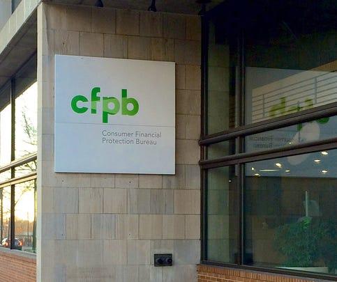 Exterior of the Consumer Financial Protection Bureau, Washington, DC.