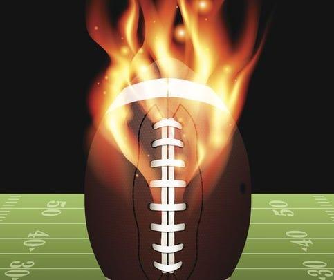 High school football playoff scoreboard