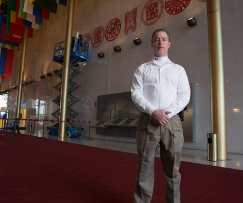 Kevin Greene, an Air Force reservist, is the Fire, Safety & Occupational Health Manager at the John. F. Kennedy Center for the Performing Arts in Washington, D.C., on Wednesday, January 27, 2016. (Mike Morones/Staff)