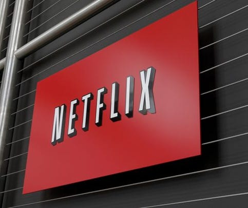 The Netflix company logo is seen at Netflix headquarters in Los Gatos, CA on Wednesday, April 13, 2011.