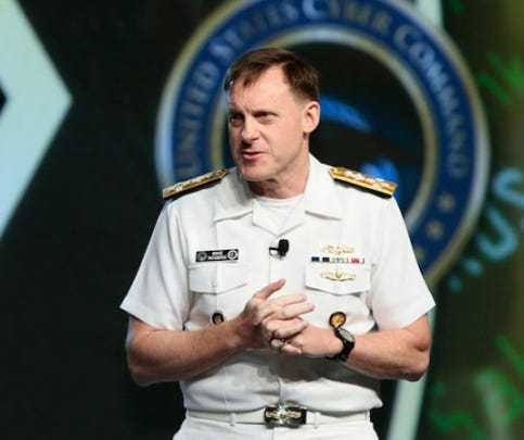 Adm. Mike Rogers, director of the NSA and commander of U.S. Cyber Command, spoke at the GEOINT Symposium in Washington June 24, 2015.