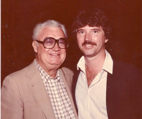 Dewayne Staats and Harry Caray