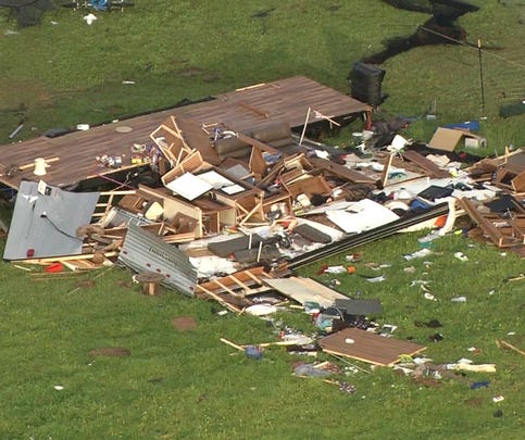 Tornadoes caused major damage in Johnson County on April 3, 2015.