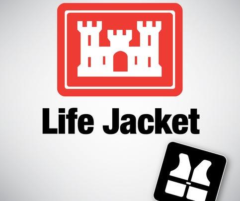 U.S. Army corps of Engineers  life jacket loaner logo