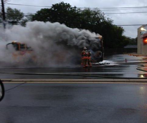School bus fire: Georgia Avenue and Shorefield Road