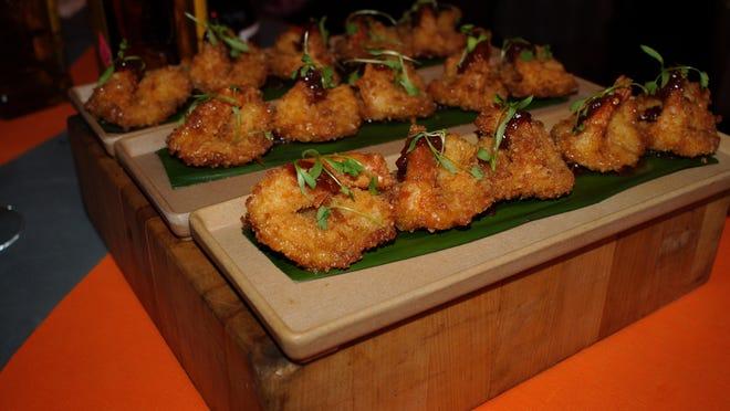 Coconut shrimp in a spicy sauce (Quinn's on the Beach).