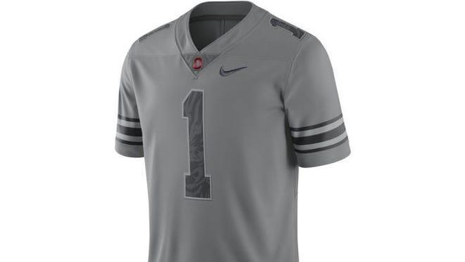Ohio State's gray alternate uniform